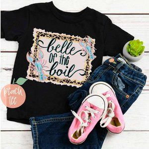 Belle of the Boil Toddler Girl Crawfish Tee